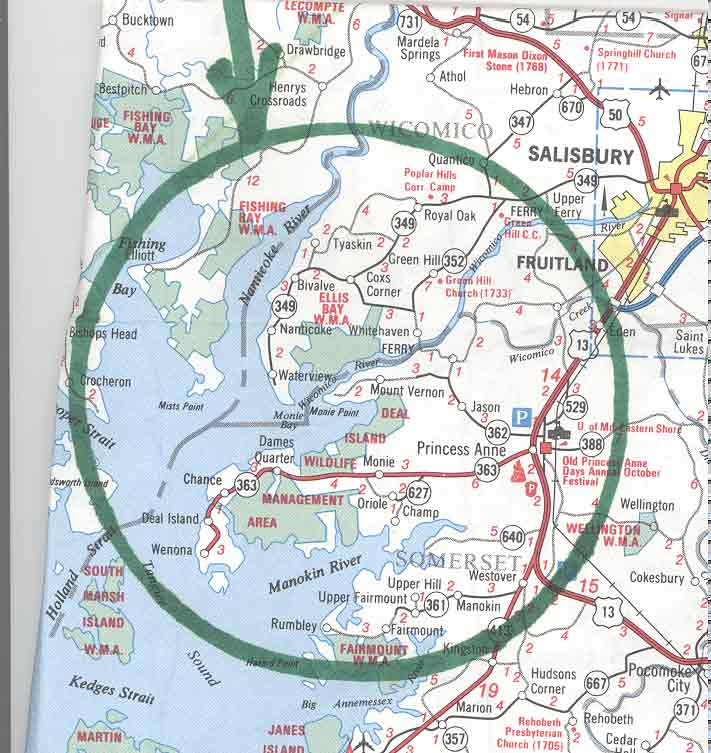 Eastern Shore Map Images